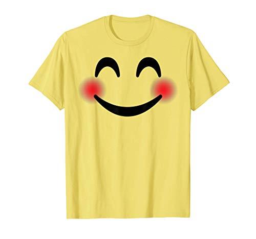 Halloween Emojis Costume Shirt Blushing Smiling Emoticon T-Shirt