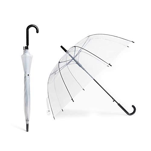 Kelinter Paraguas Transparente - 8 Varillas Reforzadas Grandes - Resistente a la Intemperie, Robusto y Ligero - Cubierta Transparente Tipo Campana, Diseno Bonitos para Fotos de Boda y Fiestas