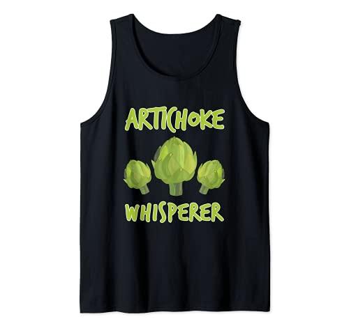 Divertido disfraz vegetariano de susurro de alcachofa Camiseta sin Mangas