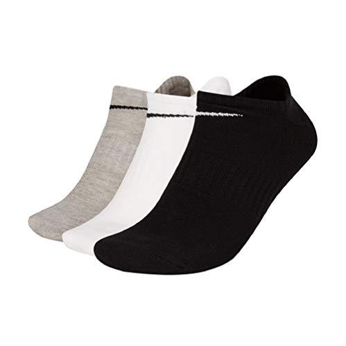 Nike Lightweight No-Show Socks - Calzini da corsa, confezione da 3 multicolore M