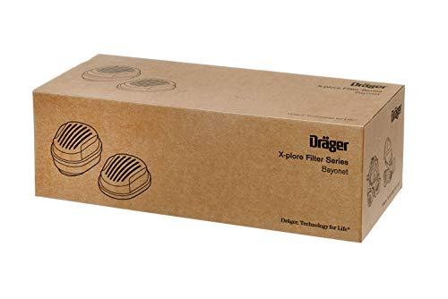 Dräger X-plore Bajonett Kombinations-Filter A2 P3 für Gase und Partikel   7 Paar   Ersatzfilter für Voll- und Halbmasken X-plore 3300, 3500 und 5500 - 6
