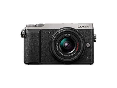 Panasonic Lumix Appareil Photo Hybride Compact DMCGX80NEFS +Lumix 1442 F3.55.6 (Capteur 4/3 16MP, Double Stab, Viseur, écran inclin. tact, AF DFD, Vidéo 4K) Gris – Version Française