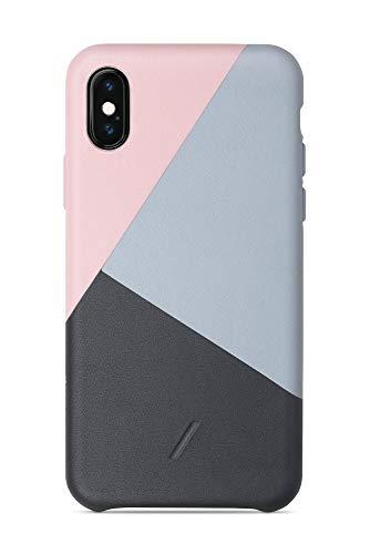 Native Union Clic Marquetry Hülle für iPhone XS – handgefertigte Abdeckung aus italienischem Nappaleder (Rosé)