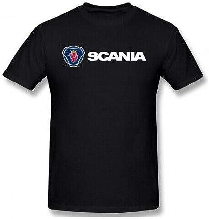 WUIOP Mens Scania Logo Car 100/% Cotton T-Shirt