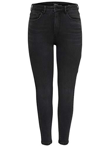ONLY Damen Skinny Fit Jeans ONLMila HW Ankle 2830Black Denim