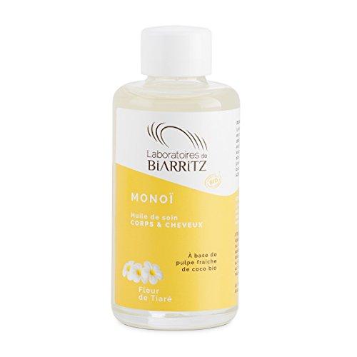 Laboratoires de Biarritz Monoï - Solución hidratante de flor de tiaré, certificado orgánico