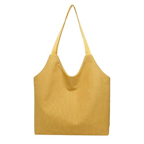 FOANA Bag String Shopping Bag Wiederverwendbare Obst Aufbewahrungstasche Handtaschen Neu (Gelb)
