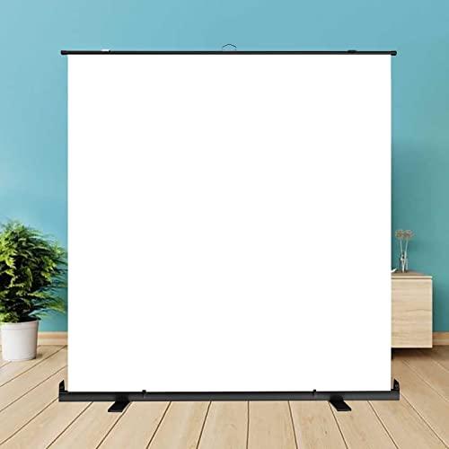 GYX-Décoration Pantalla de Proyección - Pantalla de Proyector de Elevación Manual Pantalla de Proyección Plegable Portátil Pantalla de Proyección Móvil, para Cine en Casa, Conferencias, Juegos