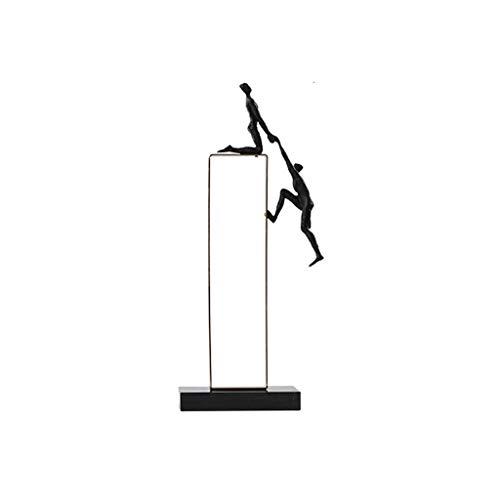 Decoración de Escritorio Moderno, Metal, Esculturas, Carácter decoración del hogar, Sala de Estar Oficina Librero Crafts Decoración, Decoración Creativa Estatua Adornos de Escritorio