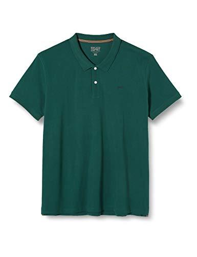 ESPRIT Herren 010EE2K325 Poloshirt, Grün (Dark Green 300), XXXX-Large (Herstellergröße: 4XL)