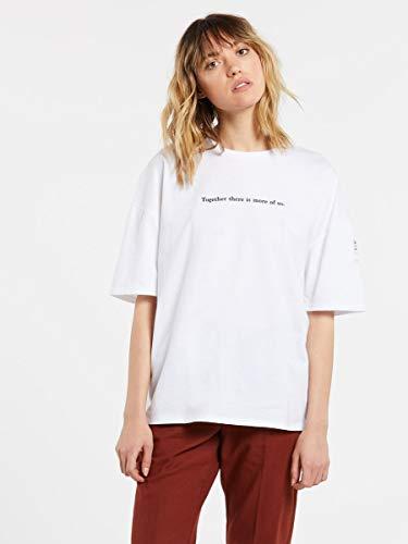 Volcom Schnips FA SS Camiseta de Manga Corta, Mujer, White, S