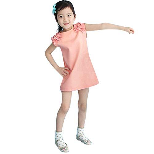 Vestido de Fiesta sólido de la Princesa Ocasional del Vestido de la Princesa de la Muchacha del niño de los niños del niño Vestido