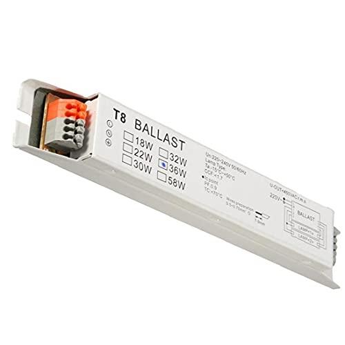 Las balastas de la lámpara fluorescente de la balasta electrónica de gran voltaje, T8 2x36w Mantenga cualquier habitación perfectamente encendida T8 lámpara fluorescente de la máquina de