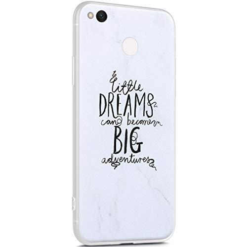 Surakey Marmor Hülle für Xiaomi Redmi 4X Hülle,Transparent TPU Silikon Handyhülle Schutzhülle für Xiaomi Redmi 4X,Weiß Marmor Muster Ultra Dünn Silikon TPU Bumper Rückschale Case Cover, 7
