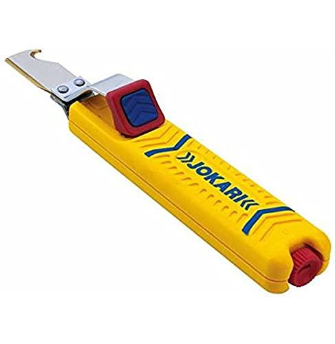 Jokari Kabelmesser (Abisoliermesser m. Hakenklinge - Klinge Titan Nitrid beschichtet - Arbeitsbereich Ø 8-28mm) 460075