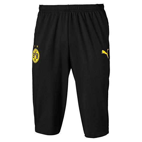 PUMA Herren BVB 3/4 Training Pants Without Pockets Jogginghose, Black-Cyber Yellow, L