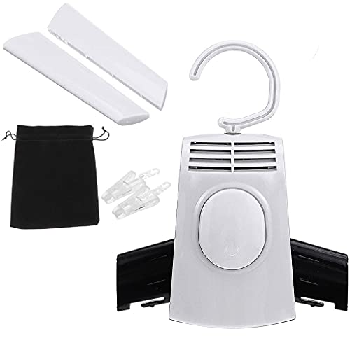 JEONSWOD Portable Electric Clothes Dryer Shoes Clothe Rack Hangers Foldable Travel Available Clothing Shoes Heater Electric Dryer Machine (Color : White)
