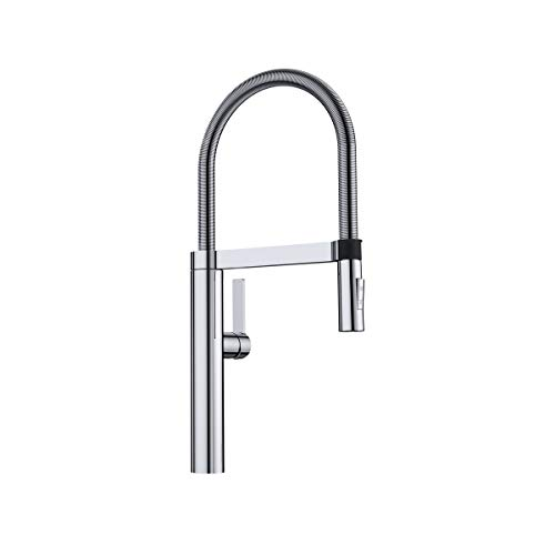 BLANCO, Polished Chrome 441405 CULINA Semi-Pro Kitchen Faucet with Magnetic Handspray, 1.8 GPM
