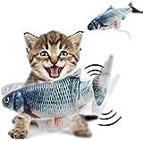Materly 5er Pack Elektro Moving Fish Katzenspielzeug Moving Cat Kicker Fischspielzeug Realistic Flopping Fish Lustige interaktive Haustiere Plüsch Interaktive Katzenspielzeug Zubehör