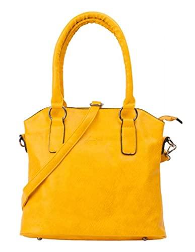 Wortman dariya - Bolso bandolera para mujer (29 x 26 x 11 cm), color amarillo