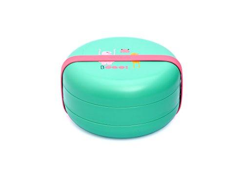 Suavinex - Set Platos BOOO +4 Meses. Capacidad 2 Comidas. Apto Para Microondas y Lavavajillas, Color Verde