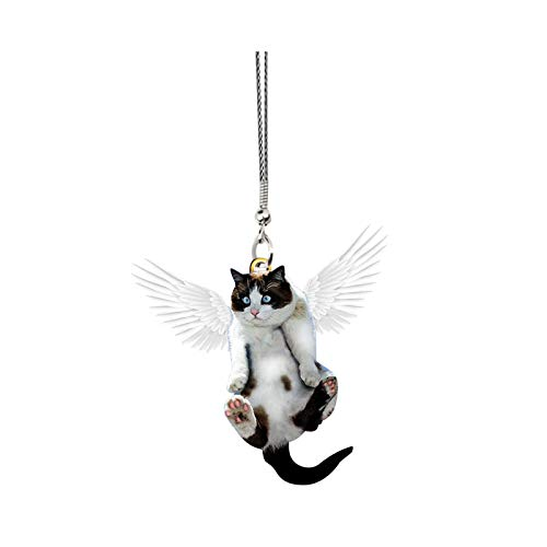 FeiliandaJJ Taschenanhänger Niedlich Katze Schutzengel Auto Anhänger Schlüsselanhänger Schlüsselbund für Kinder Mädchen Handtasche Schlüssel Auto (1 Stück)