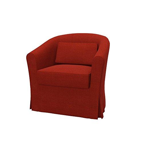 Soferia Bezug fur IKEA EKTORP TULLSTA Sessel, Stoff Elegance Dark Orange