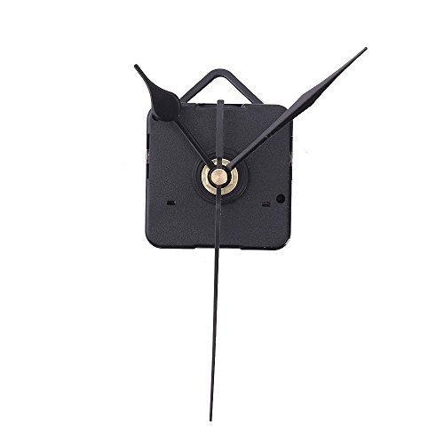 Husillo de reloj de cuarzo - SODIAL(R)Negra aguja DIY Husillo de reloj de cuarzo Mecanismo de movimiento silencioso Juego de herramientas de reparacion