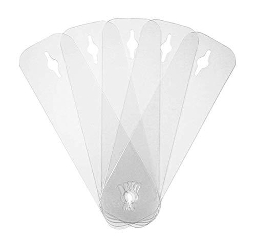 CAREOR 10 Unidades Invisibles de Sujetador de Corbata – alzapaños Invisibles Sujetador de Corbata Alternativa a los Aparejos de Atar y Barras de Corbata