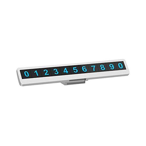 LHTCZZB Flip oculto luminoso estacionamiento temporal número de placa de decoración de automóviles Accesorios de alta temperatura resistente y durable PC + material ABS adecuado para varios carteles d