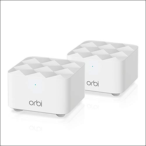 Netgear Orbi Whole Home Mesh WiFi System (RBK12) – Router Replacement Covers up to 3,000 sq. ft. with 1 Router & 1 Satellite