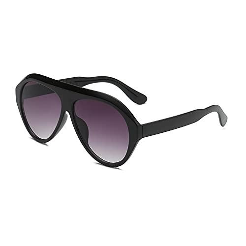 NJJX Gafas De Sol De Piloto Clásicas De Moda Para Hombres Y Mujeres, Gafas De Sol Grandes De Tendencia, Gafas De Conducción Para Mujer, Negro-Gris Brillante