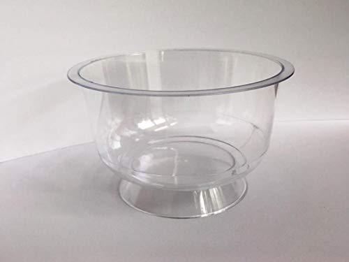 Ggroup 25 Coppette monouso Cristal in plastica Trasparente 200 ml Coppe Ideali per Gelato, macedonie, Yogurt, Dessert, semifreddi 200 CC