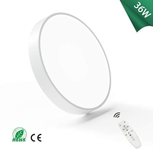 Macaron 36W Dimmbar LED Deckenleuchte 50cm, 2700k-6500K LED Deckenlampe, Ultradünn Moderne Runde Led Deckenleuchte für Schlafzimmer, Küche, Arbeitszimmer, Büro (Weiß-Dimmbar, 36W(50CM))