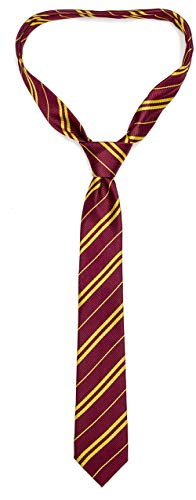 Funnlot Cosplay Tie for Harry Costume Accessory for Christmas Party Easter Day Halloween Party Hand-Make Necktie (Burgundy)