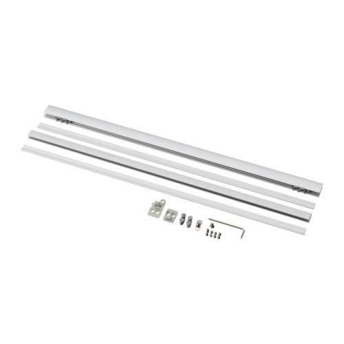 IKEA Laufleiste KVARTAL mit Beschwerung für Schiebegardinen (aluminium)