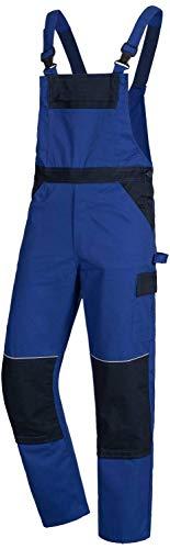 Nitras 7521 Männer-Arbeitshosen Lang - Latzhose für die Arbeit - Blau - 54