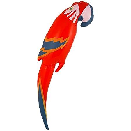 Parrot Outfit Bird Hawaiian Adult Fancy Dress Costume Unisex Pirate New