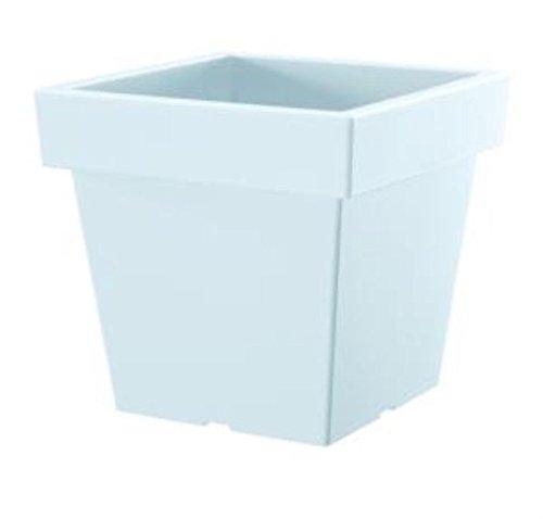 Prosper Plast Dlofl240-s449 23.4 x 23.4 x 22 cm Lofly carré Faible Pot de Fleurs – Blanc (12 pièces)