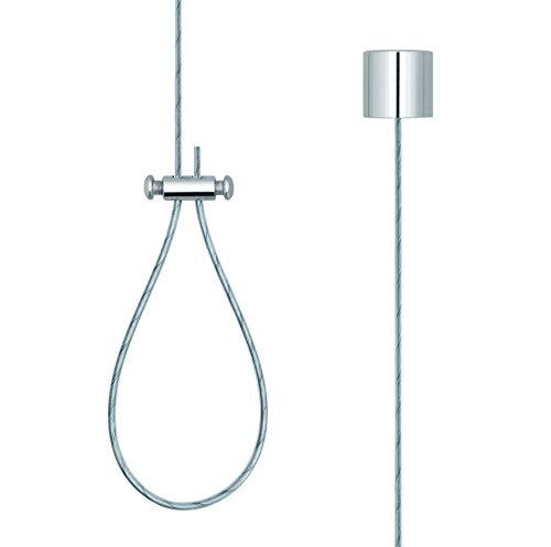 Libaro Deckenhalter für Duschstangen, Deckenabhängung 1,50 m aus Messing und Edelstahl rostfrei, individuell kürzbar