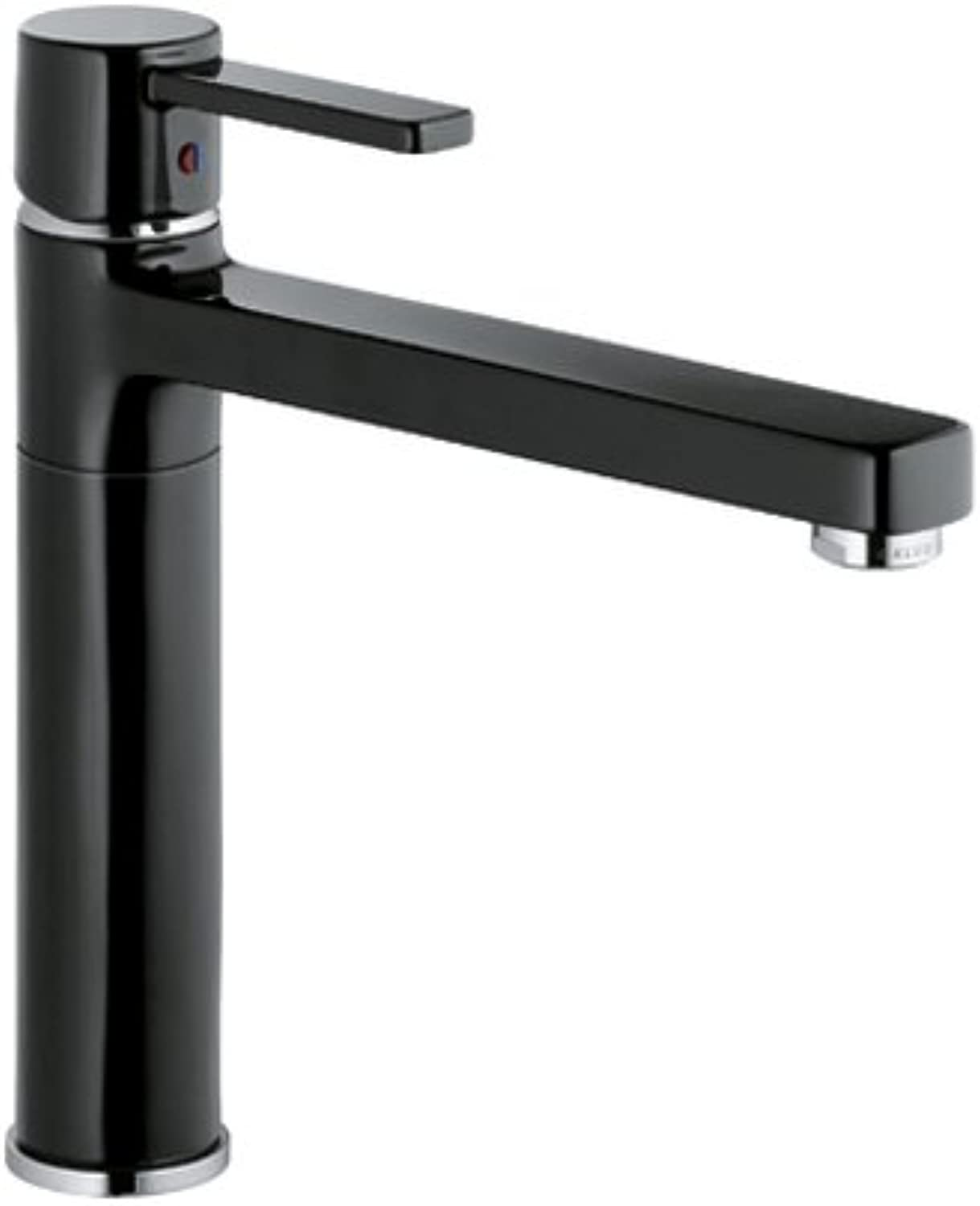 Kludi Kitchen Sink tap with Fixed spout Made od Zenta DN 10-Black Chrome 38 973 86 75
