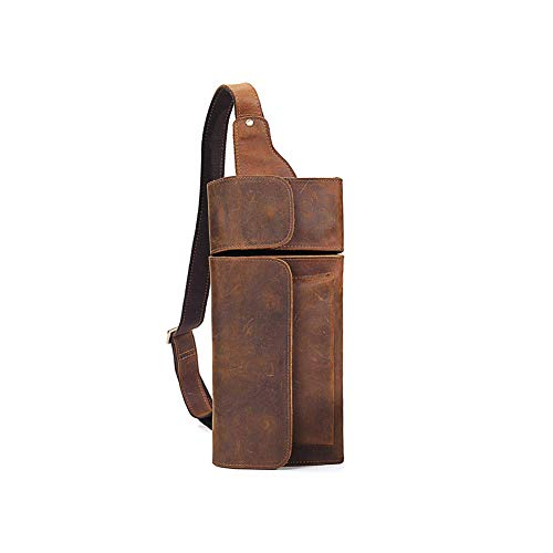 DAGE Männer Einstellbar Schulterriemen Umhängetasche Eine Schulter Draussen Bewegung Reise Brusttasche Mode Brachliegen Rucksack PU