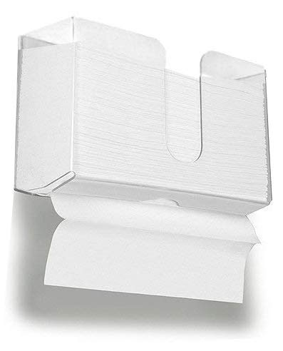 HIIMIEI Acrylic Paper Towel Dispenser Wall Mount for Multi-Fold Paper Towel,C-Fold, Zfold, Tri fold Hand Towel Holder Commercial, 4.3 Inch Width x 10.7 Inch Length x 6.5 Inch Height