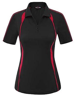 Ladies Short Sleeve Zipper-up
