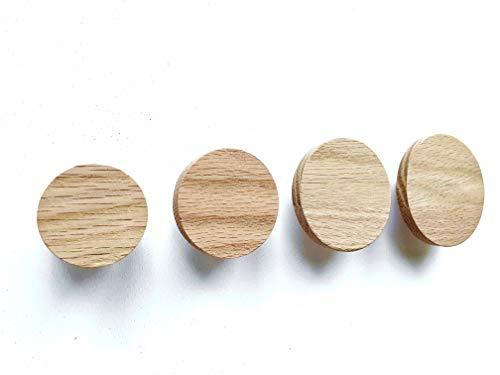 Runde Wandhaken aus Holz, Kleiderhaken, Garderobenhaken, Garderobe, Schlafzimmer, Badezimmer, Kinderzimmer, Deko, Scandi-Style, Geschenkidee