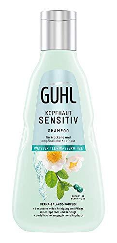 Guhl Kopfhaut Sensitiv Shampoo - 250 ml - Milde Pflege für sensible Kopfhaut - Weißer Tee & Wasserminze