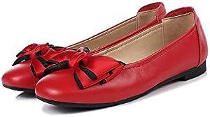 Women Casual Shoes 2019 Leather Women Flat Shoes Bow Shoes Women