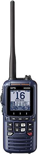 Standard Horizon HX890 Handheld VHF Navy Blue - Floating 6 Watt Class H DSC Two Way Marine Radio