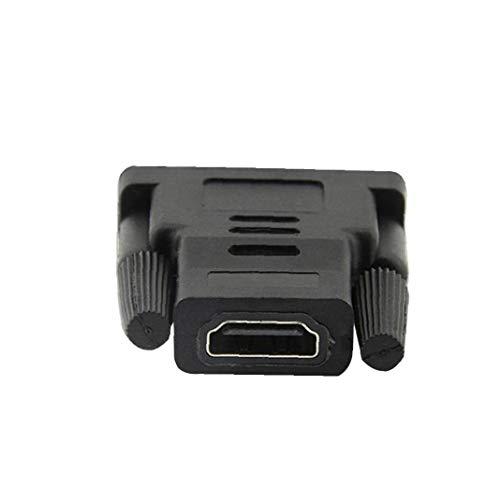 DVI a HDMI Conector bidireccional DVI a HDMI Macho a Hembra Adaptador de Salida de señal VGA Equipo Electrónica Partes apropiadas para su Oficina en casa
