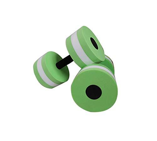 'N/A' Aeróbic acuático, Mancuernas de Resistencia Flotante, Fitness para Piscina, Juego de Mancuernas de Espuma EVA de Alta Densidad, Mancuernas para Deportes acuáticos(Color:Verde)